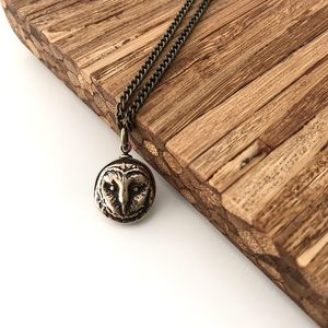 Handcrafted Solid Bronze Owl Pendant